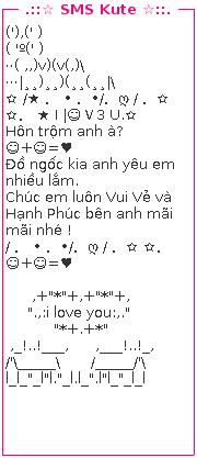 SMS tình yêu